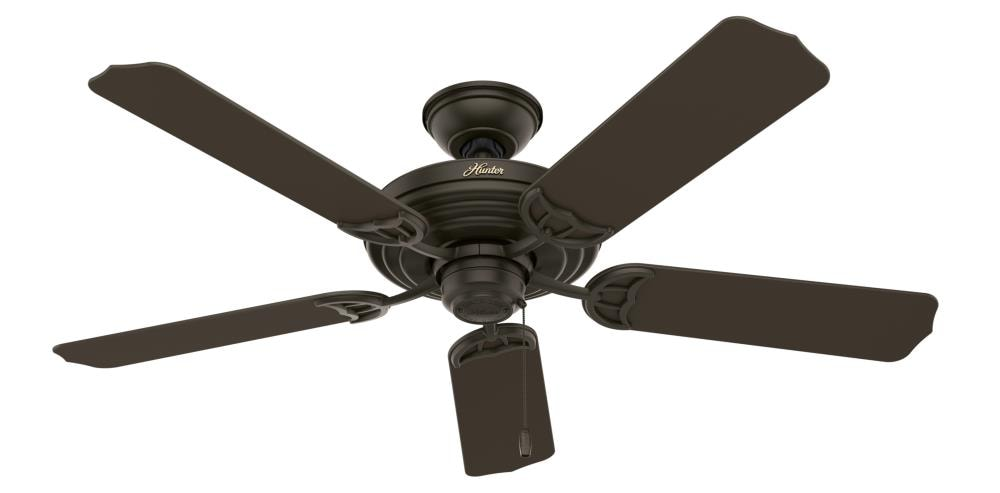 Hunter Sea Air 52 In New Bronze Ceiling Fan 5 Blade In The Ceiling Fans Department At Lowes Com