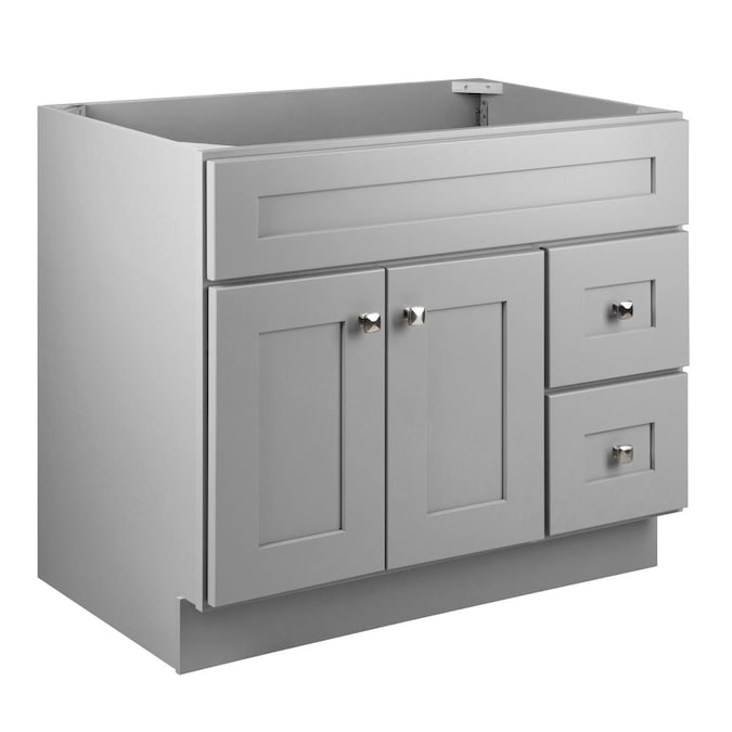Design House Brookings 36 In Gray Bathroom Vanity Cabinet In The Bathroom Vanities Without Tops Department At Lowes Com