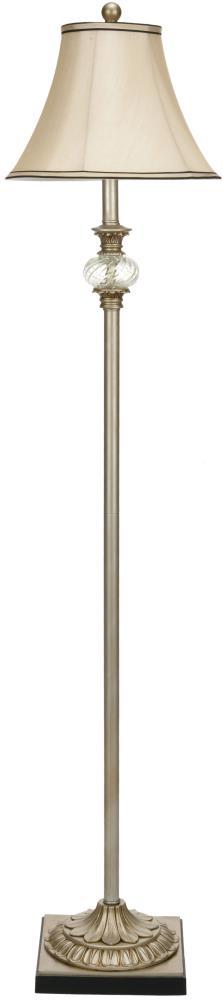In Antique Silver Floor Lamp, Vintage Silver Floor Lamp