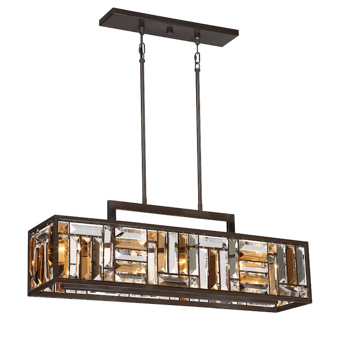 Quoizel Crossing Bronze Casual Transitional Kitchen Island Light In The Pendant Lighting Department At Lowes Com