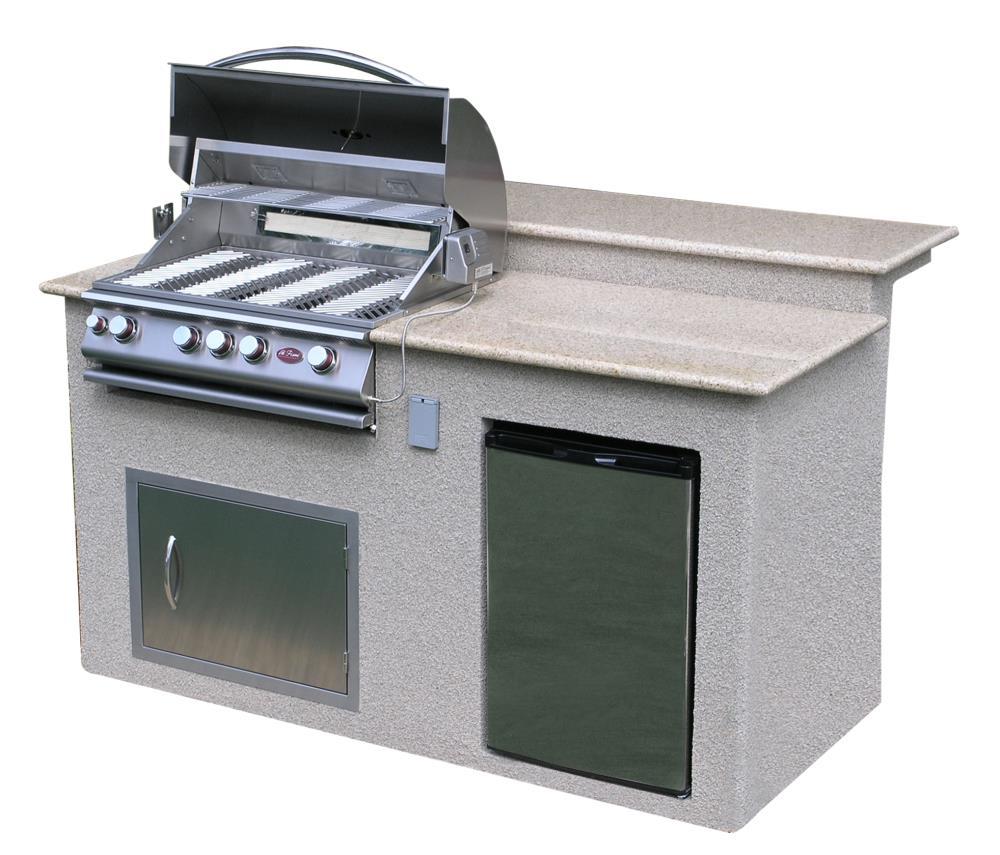 Cal Flame Modular Outdoor Kitchen Modular Bar Counter Stainless Steel   E6016