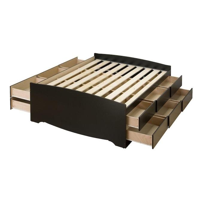 Black Queen Platform Bed With Storage, Platform Beds With Storage Queen Size Mattress