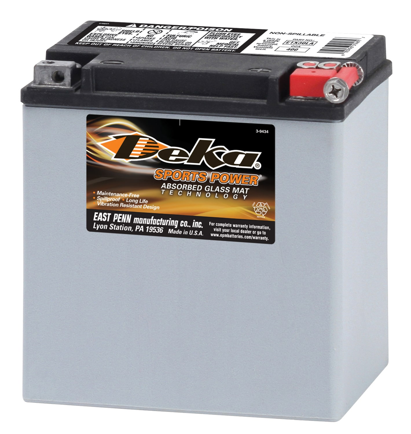 Deka 12 Volt Motorcycle Battery In The Power Equipment Batteries Department At Lowes Com