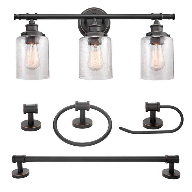 Globe Electric Camden 3 Light Bronze, Bathroom Vanity Light Globes