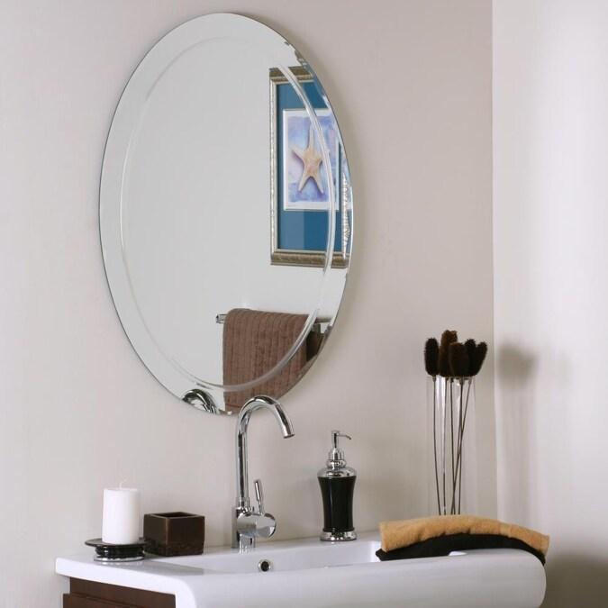 Oval Frameless Bathroom Mirror, Oval Frameless Bathroom Mirror