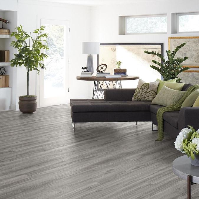 Mohawk Ridgeway Oak Vinyl Plank Sample, Gray Vinyl Flooring Living Room