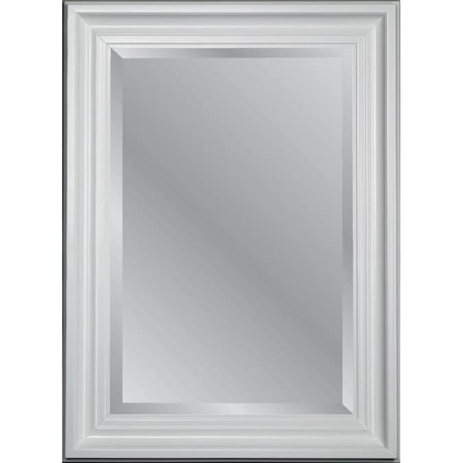Allen Roth 43 75 In L X 31 75 In W White Beveled Wall Mirror In The Mirrors Department At Lowes Com
