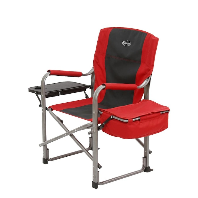 Black Folding Camping Chair, Red And Black Folding Patio Chairs