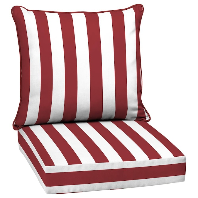 Arden Selections 2 Piece Ruby Cabana, Deep Seating Patio Cushions Clearance