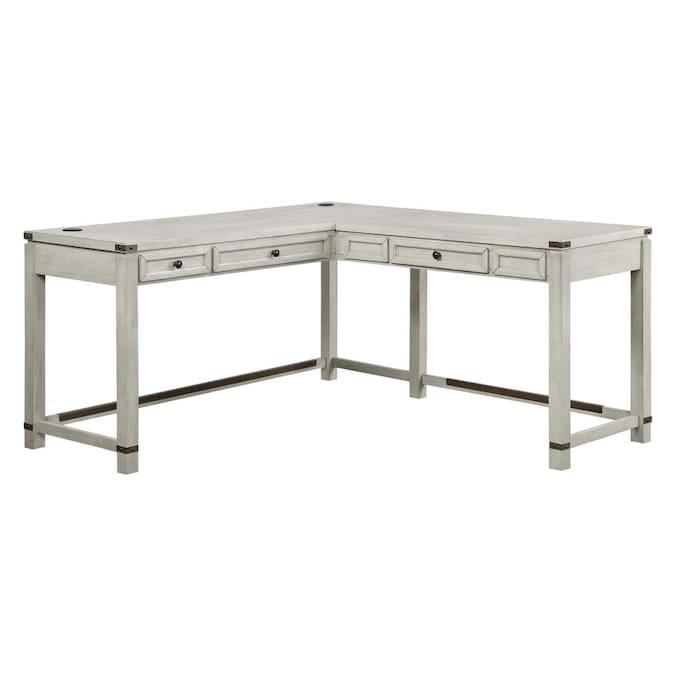 Gray Rustic Oak L Shaped Desk, Home Furniture Baton Rouge