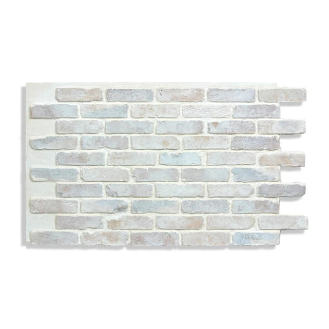 Antico Elements Faux Brick Panels 47 5 In X 27 25 In Cotton Brick Veneer Panel 9 1 Sq Ft In The Brick Veneer Department At Lowes Com