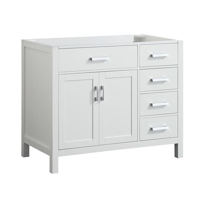 White Bathroom Vanity Cabinet, 42 Inch Bathroom Vanity Without Top