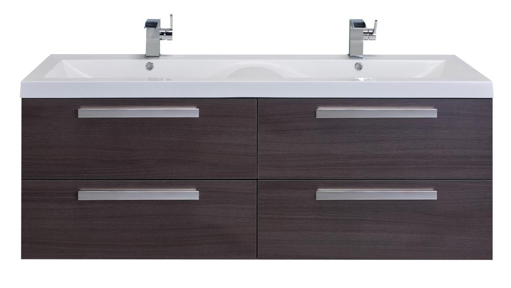 Natural Oak Double Sink Bathroom Vanity, 56 Bathroom Vanity Double Sink