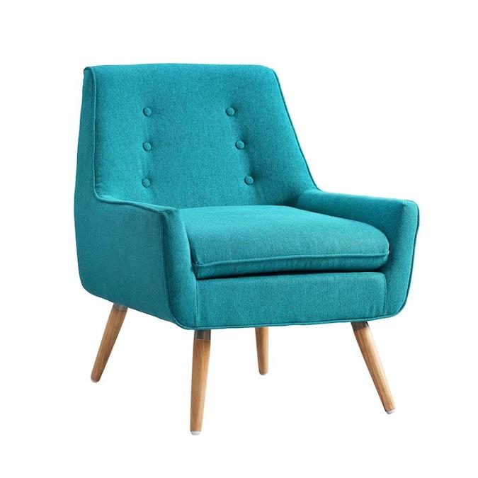 Linon Trellis Casual Blue Blend Accent, Chair And Trellis