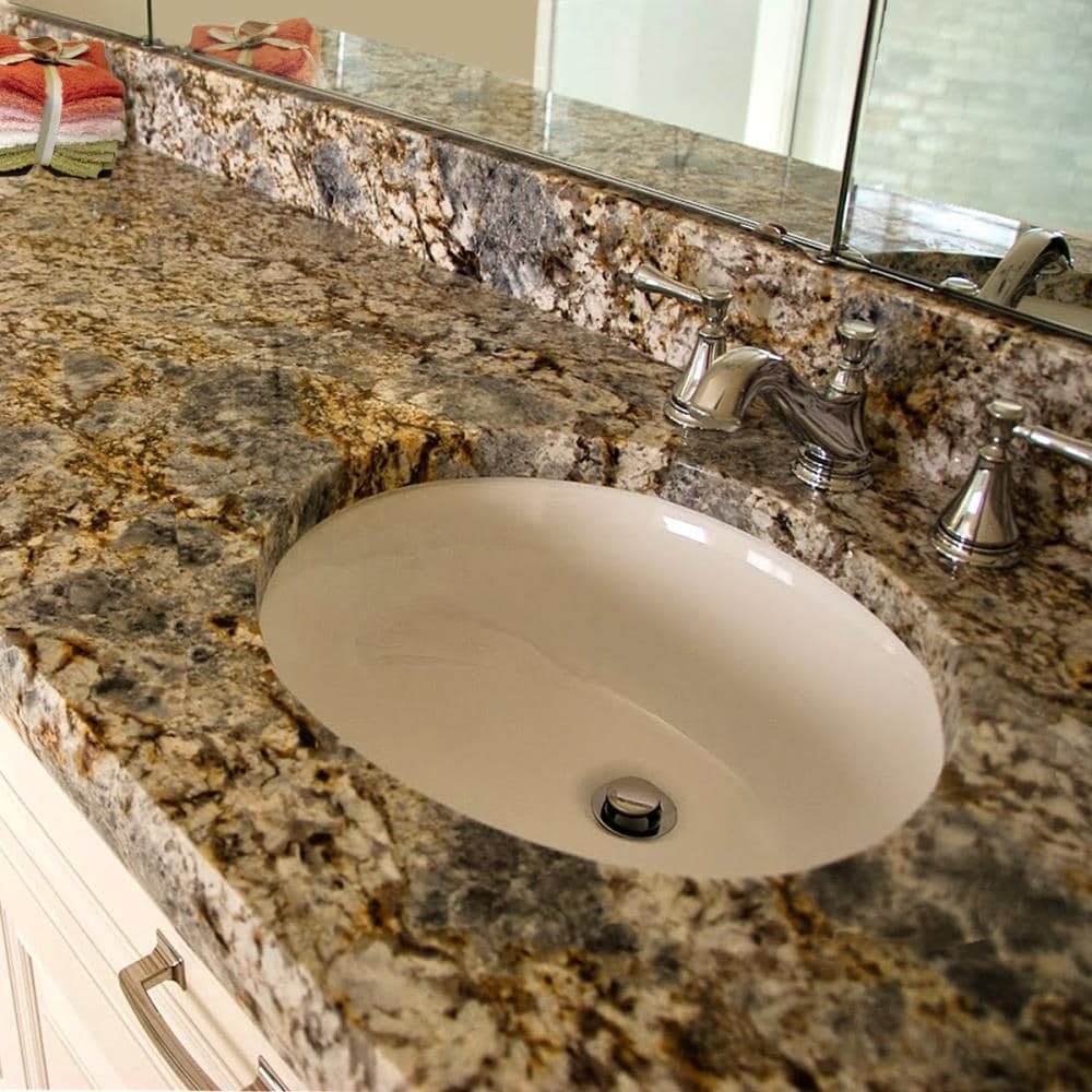 Nantucket Great Point Bisque Undermount Oval Bathroom Sink With Overflow Drain 15 In X 12 In In The Bathroom Sinks Department At Lowes Com