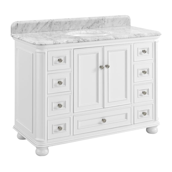 Allen Roth Sl Writsvle Wh 48 In Vty Mbl Top In The Bathroom Vanities With Tops Department At Lowes Com