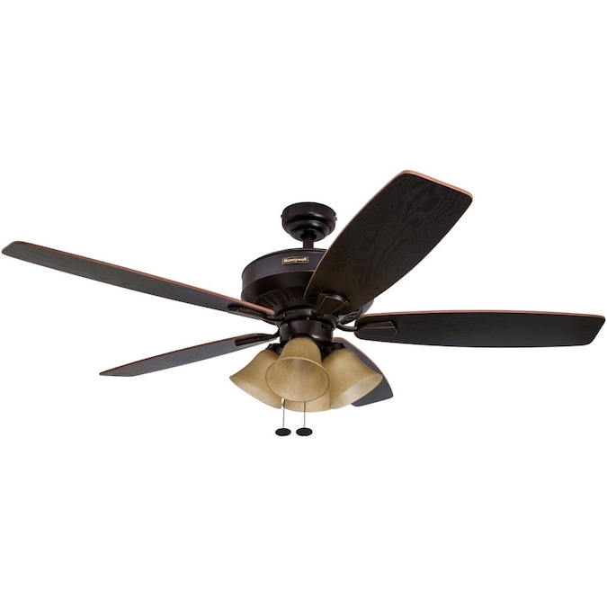 Honeywell Birnham 52 In Oil Rubbed Bronze Indoor Ceiling Fan 5 Blade In The Ceiling Fans Department At Lowes Com