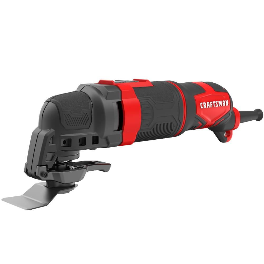 CRAFTSMAN 14-Piece Corded 3-Amp Variable Speed Oscillating Multi-Tool Kit with Soft Case | CMEW400