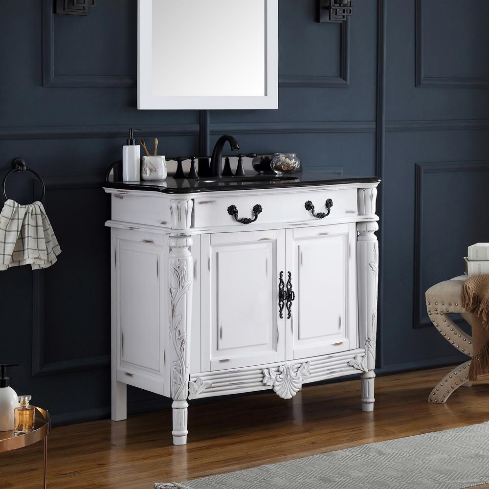 Ove Decors Lynton 36 In Antique White, 36 Inch Antique White Bathroom Vanity