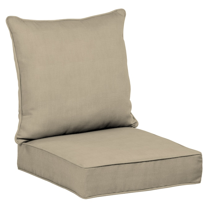 Allen Roth 2 Piece Madera Linen Wheat, Deep Seating Patio Cushions Replacement