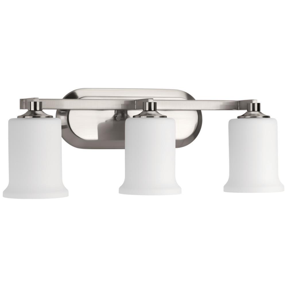 Progress Lighting Alux 3 Light Nickel, Plug In Bathroom Light