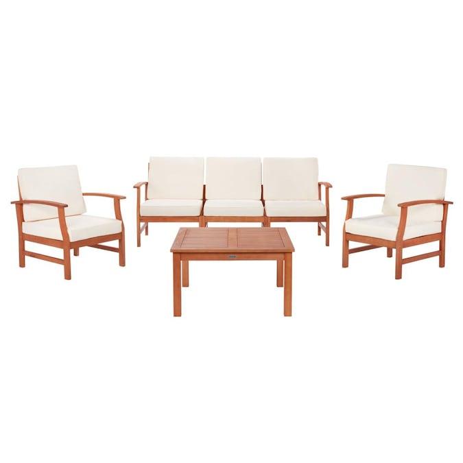Safavieh Parcer 4 Piece Wood Frame, Safavieh Patio Furniture