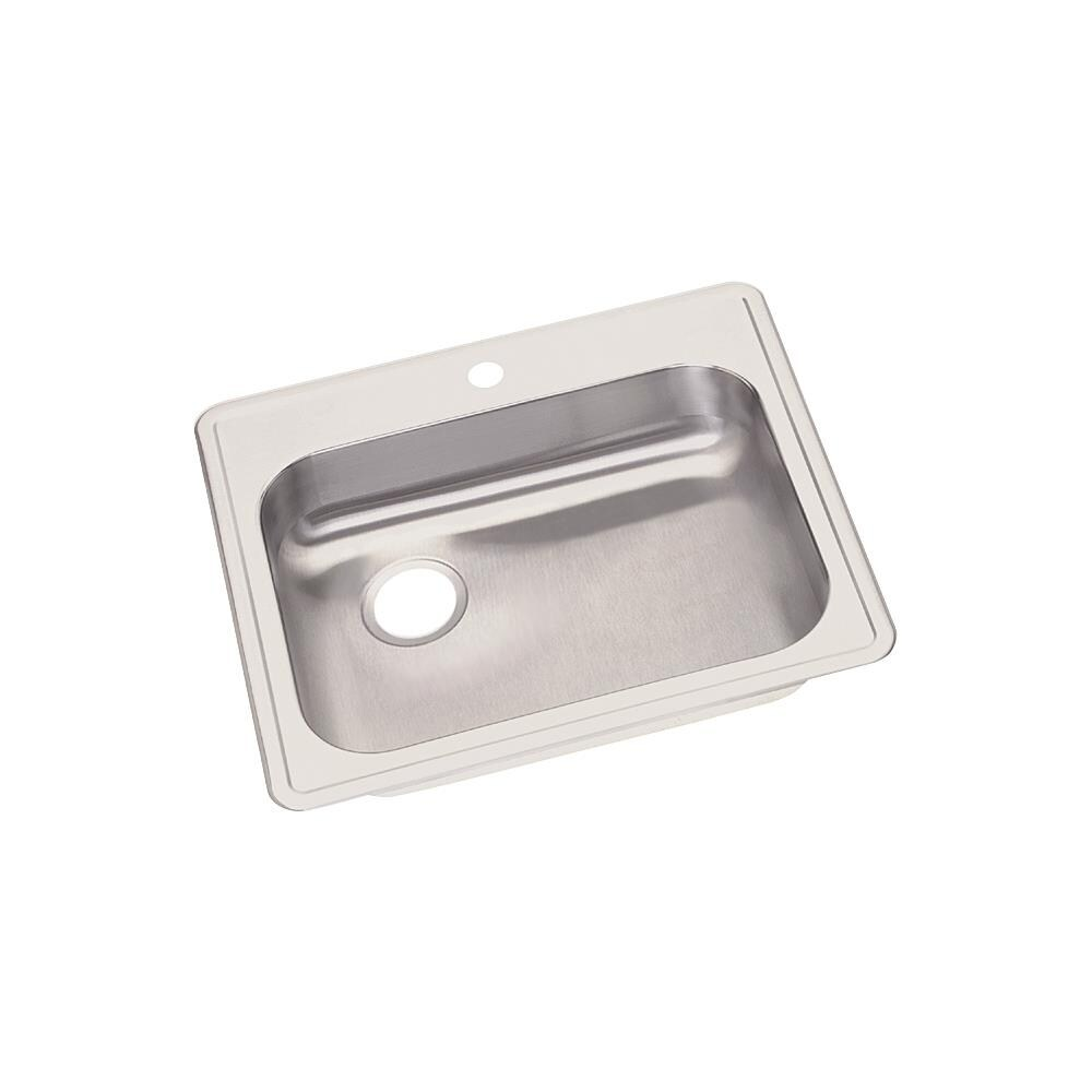 Elkay Dayton Drop In 25 In X 22 In Satin Single Bowl 1 Hole Kitchen Sink In The Kitchen Sinks Department At Lowes Com