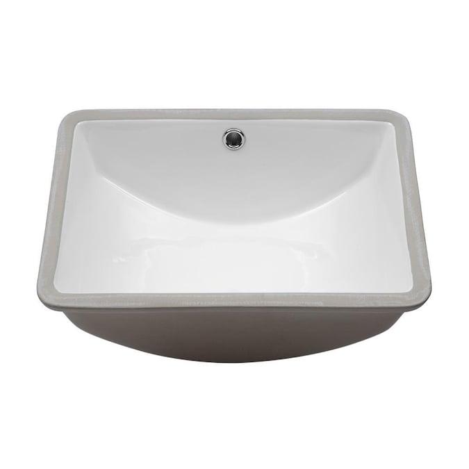 Lordear Porcelain Vanity Sink White, Double Porcelain Bathroom Sink
