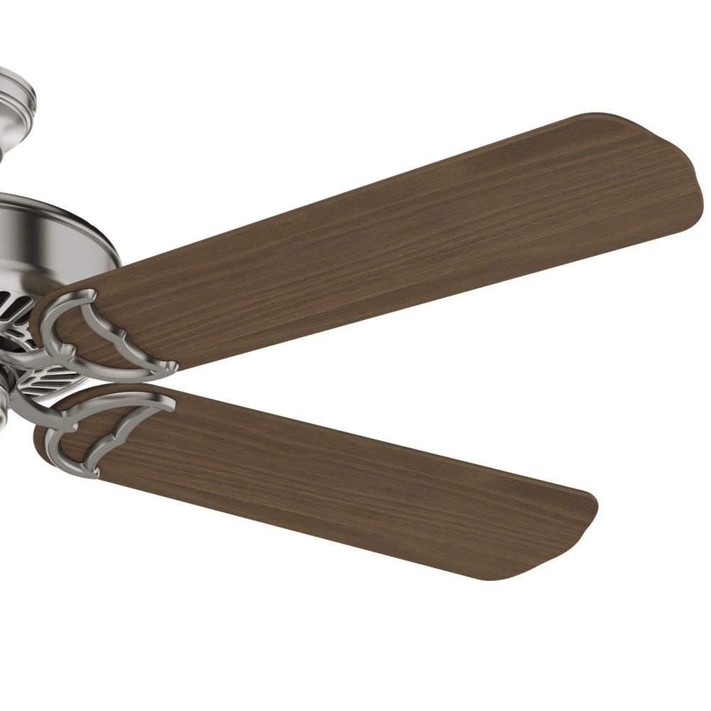 Casablanca Panama 54 In Brushed Nickel Ceiling Fan With Wall Mounted Remote 5 Blade In The Ceiling Fans Department At Lowes Com