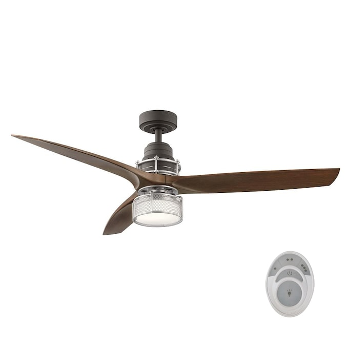 Kichler 54 In Satin Natural Bronze Led Ceiling Fan With Remote 3 Blade In The Ceiling Fans Department At Lowes Com