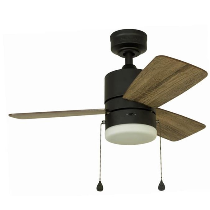 Harbor Breeze Monroem 32 In Bronze Ceiling Fan 3 Blade In The Ceiling Fans Department At Lowes Com