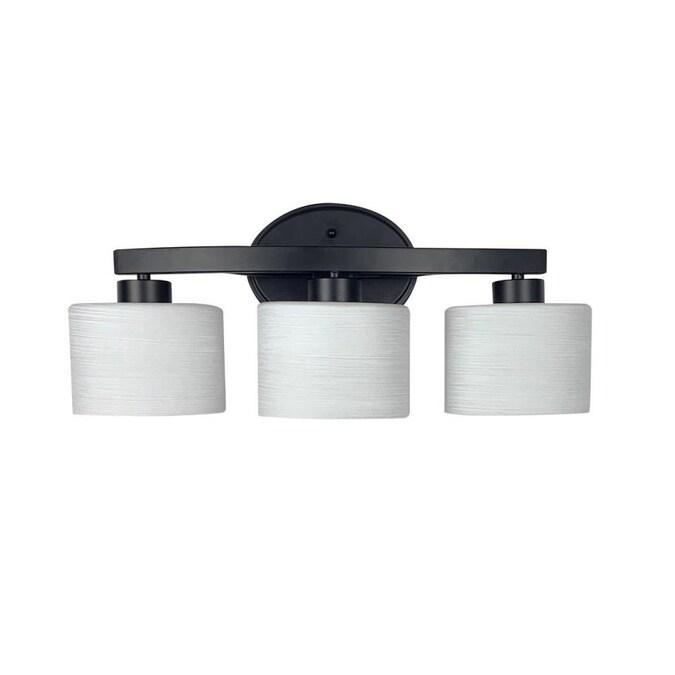 Allen Roth Merington 3 Light Black Transitional Vanity Light In The Vanity Lights Department At Lowes Com