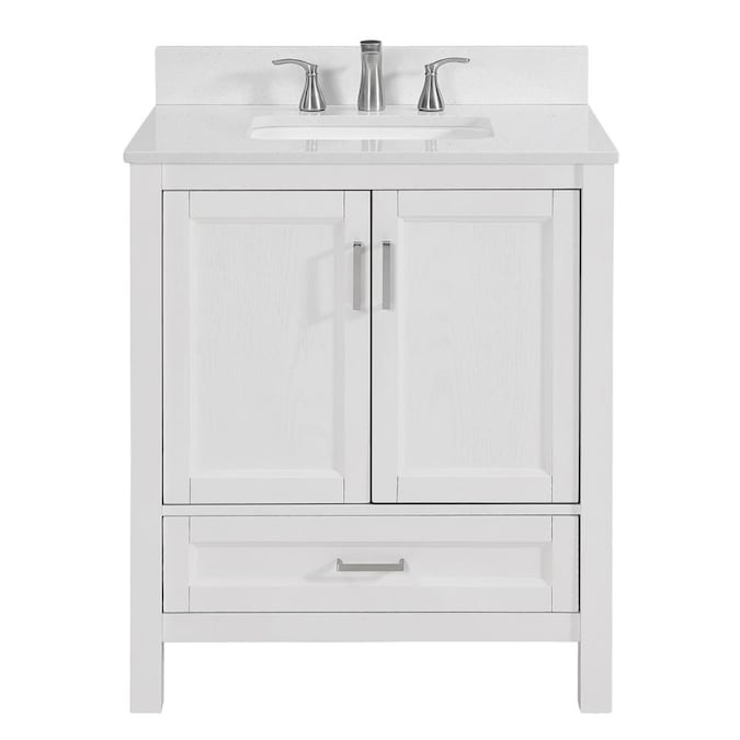 Unbranded Sl Durham White 30 In Vty Tzo Top In The Bathroom Vanities With Tops Department At Lowes Com