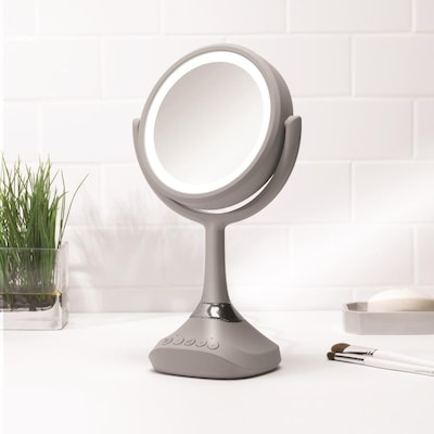 Homewerks Makeup Mirror With Led Light, Makeup Mirror With Light And Bluetooth Speaker