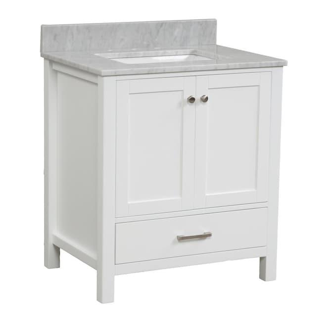 Casainc Bathroom Vanity With Top 30 In, 30 White Bathroom Vanity With Top