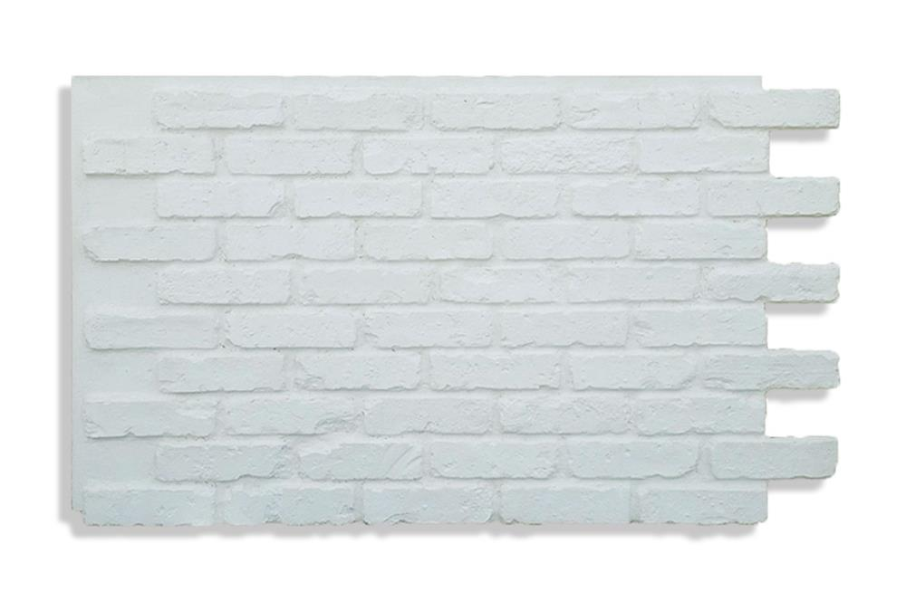 Antico Elements Faux Brick Panels 47 5 In X 27 25 In White Brick Veneer Panel 9 1 Sq Ft In The Brick Veneer Department At Lowes Com