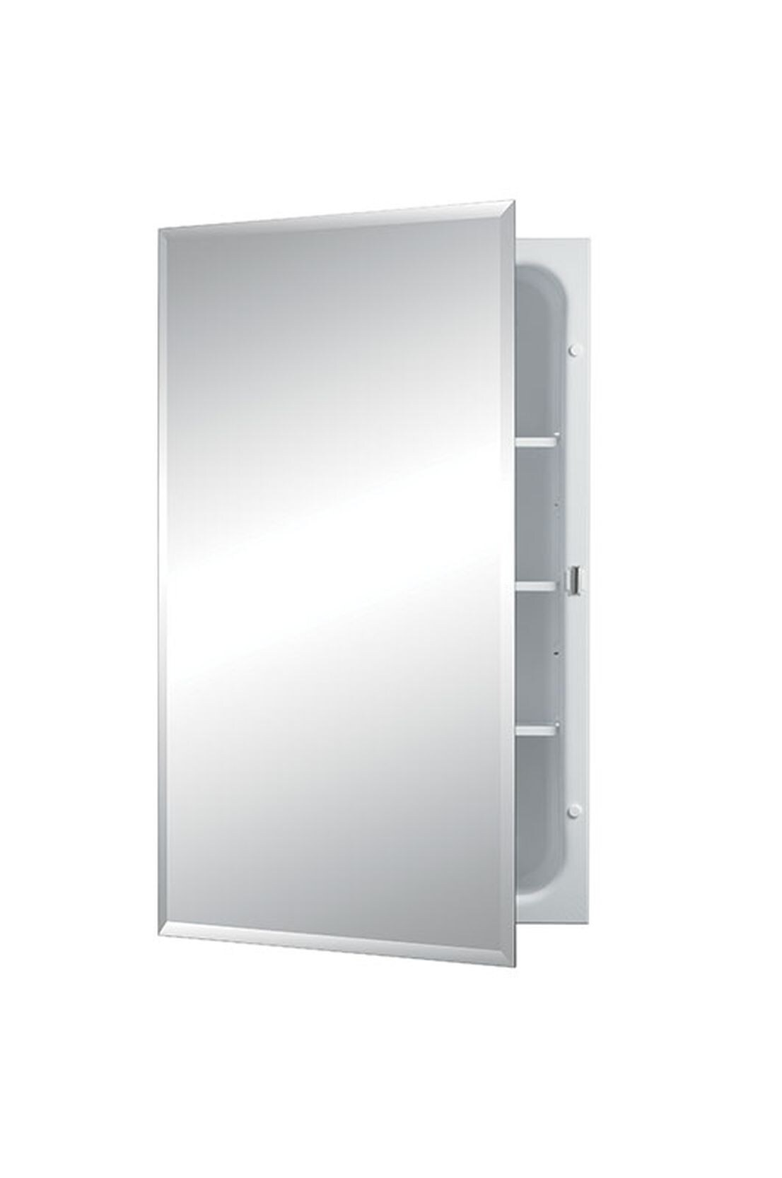 Jensen Horizon 16 In X 26 In Recessed Frameless Mirrored Rectangle Medicine Cabinet In The Medicine Cabinets Department At Lowes Com