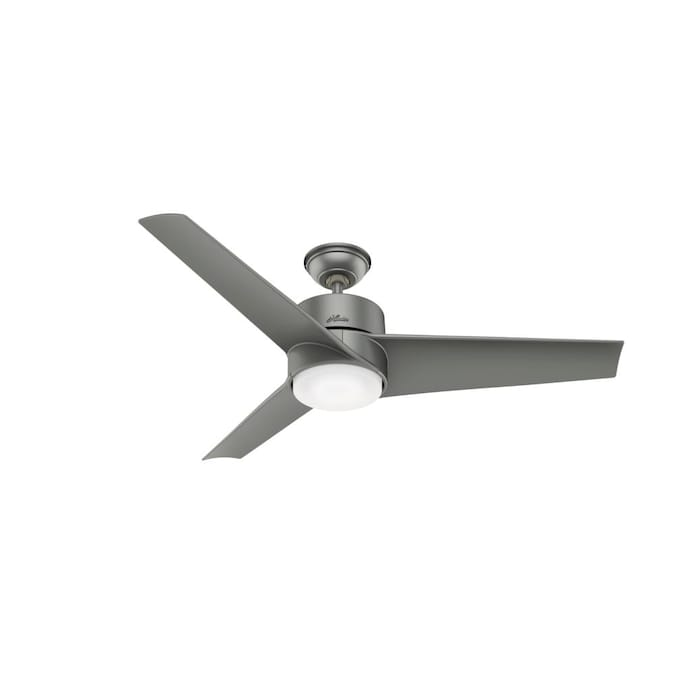 Hunter Havoc 54 In Matte Silver Led Ceiling Fan With Wall Mounted Remote 3 Blade In The Ceiling Fans Department At Lowes Com