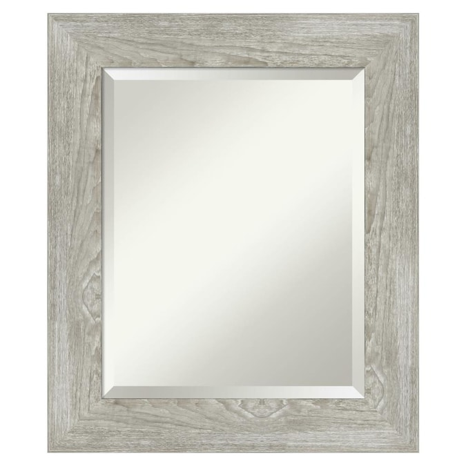 Amanti Art Dove Greywash Frame Collection 21 88 In Distressed Grey Rectangular Bathroom Mirror In The Bathroom Mirrors Department At Lowes Com