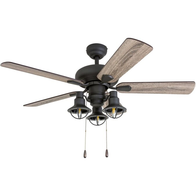 Prominence Home Kolby 42 In Aged Bronze Led Indoor Ceiling Fan With Remote 5 Blade In The Ceiling Fans Department At Lowes Com