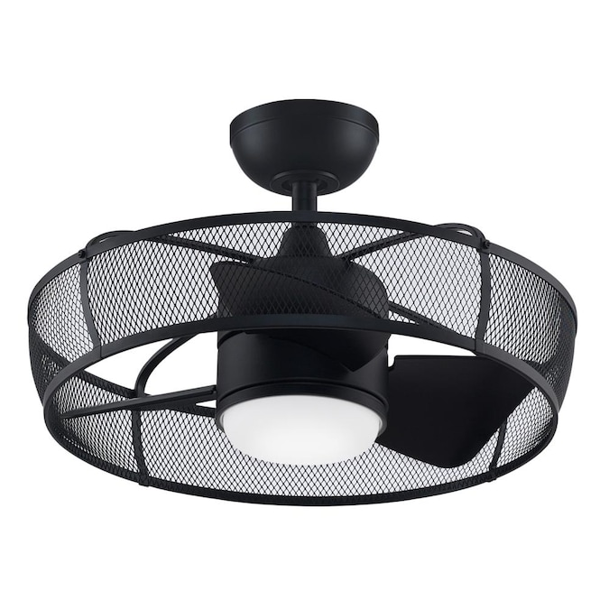 Fanimation Henry 20 In Black Led Indoor Outdoor Ceiling Fan With Remote 3 Blade In The Ceiling Fans Department At Lowes Com