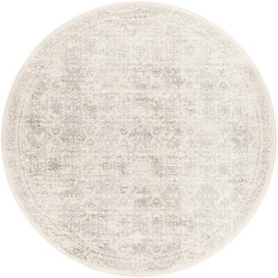 Surya Roma Gray Round Indoor Medallion, Round Designer Rugs