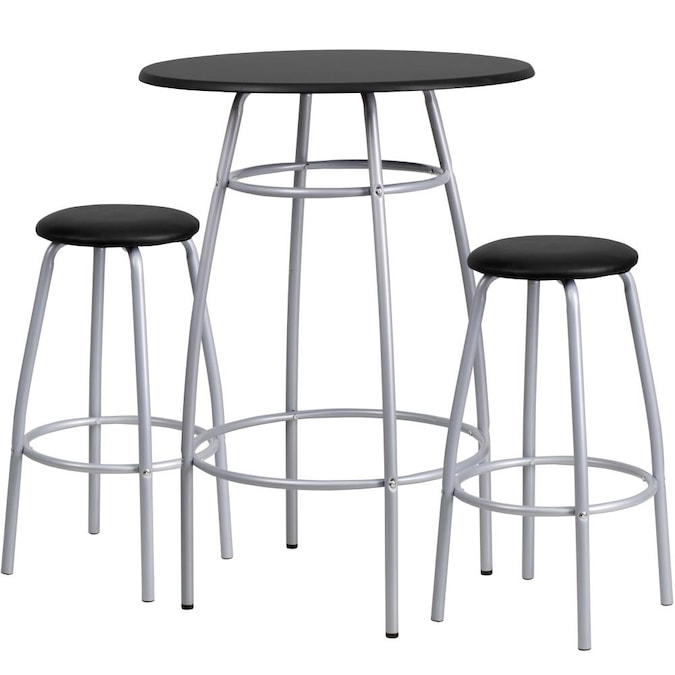 Flash Furniture Black Tall 36 In And Up Bar Stool The Stools Department At Com - What Size Stool For 36 High Table