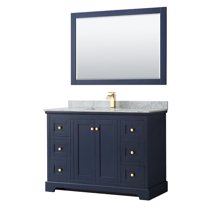 Wyndham Collection Avery 48 In Dark, How Big Of A Mirror For 48 Inch Vanity
