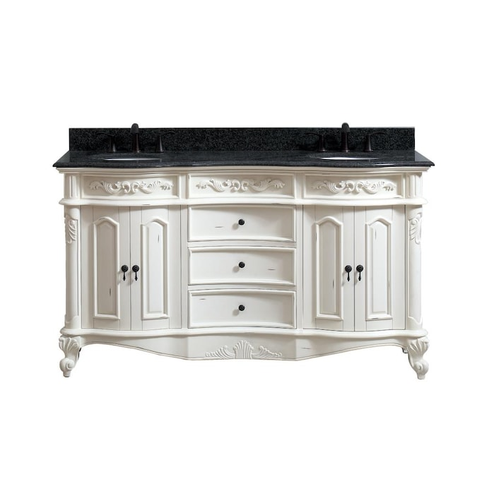 Double Sink Bathroom Vanity With, Antique White Bathroom Cabinets