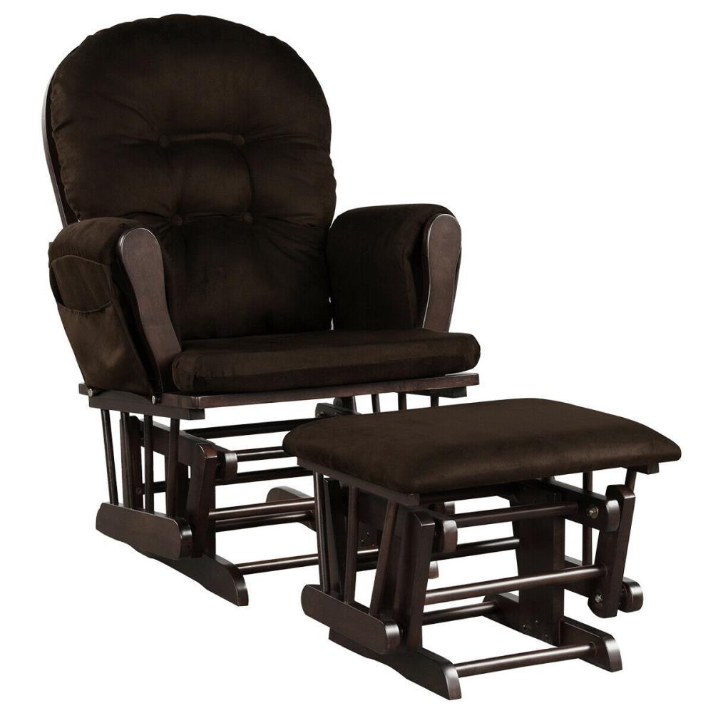 Casainc Baby Nursery Relax Rocker, Leather Baby Rocking Chair