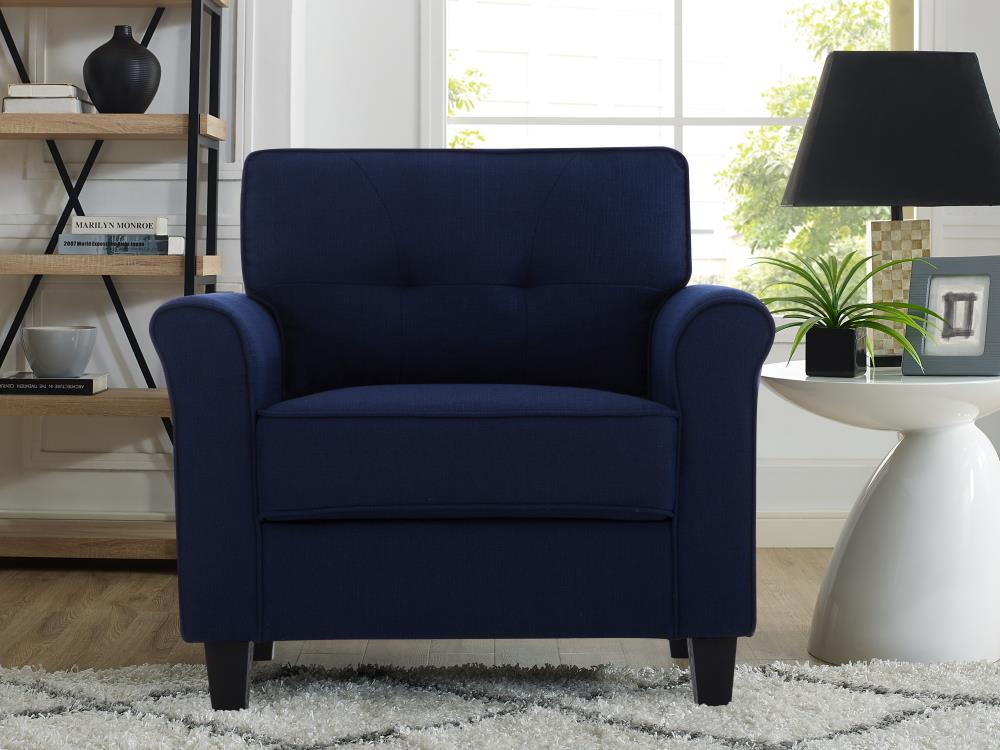 Lifestyle Solutions Casual Navy Blue, Blue Accent Chairs For Living Room