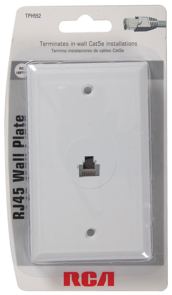 Rca Cat 6 White Ethernet Cable Box, Cat5 Wall Box Wiring