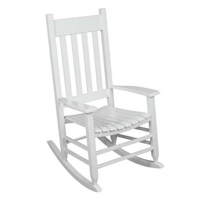 With Slat Seat In The Patio Chairs, Wood Rocking Chair Outdoor Black