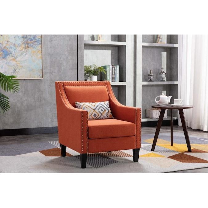 Casainc Modern Linen Blend Accent Chair, Accent Chairs Living Room
